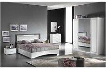 Fadily - chambre complète 160x200 avec armoire 4