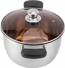 Fafeicy Pot de bouillie Pot à lait en acier