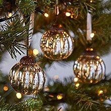 Fair Trade Lot de 3 petites boules de Noël en