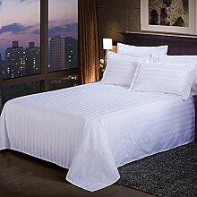 FairOnly Magnifique couvre-lit en satin blanc à