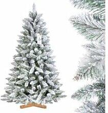 FAIRYTREES 150cm Sapin de Noël artificiel - neige