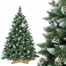 FAIRYTREES 150cm Sapin de Noël artificiel Pin -