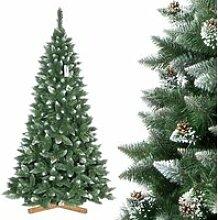 FAIRYTREES 250cm Sapin de Noël artificiel Pin -