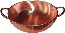 Faitout en cuivre épais spécial pour cuisinière