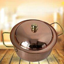 Faitout en cuivre pur fait à la main - Marmite à