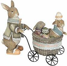 Famille de lapins de Pâques - Décoration shabby