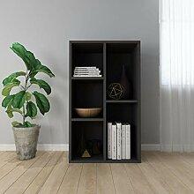 FAMIROSA Bibliothèque/Buffet Noir 45 x 25 x 80 cm