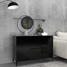 FAMIROSA Buffet Noir 104x35x70 cm