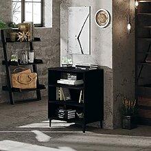 FAMIROSA Buffet Noir 57x35x70 cm Aggloméré-6059