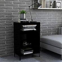 FAMIROSA Buffet Noir 57x35x90 cm Aggloméré-6131