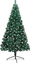 FAMIROSA Sapin de Noël Artificiel moitié LED et