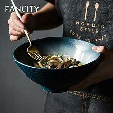 FANCITY bol Ramen japonais, bol à nouilles