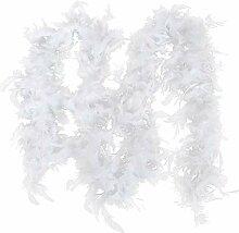 Fangteke Plume Boa Arbre de Noël Blanc Plume Boa