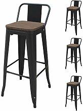 FANGYU Chair Tabouret de Bar en métal Couleur