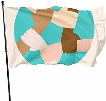 Fanion de 91,4 x 152 cm avec œillets en polyester