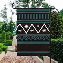 Fanion de jardin en coton avec motif étoiles