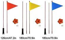 Fanion de sécurité Divisible 120 cm/180cm,