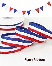 Fanion imprimé drapeau de la France + largeur