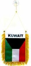 Fanion Koweït 15 x 10 cm spécial Voiture
