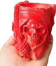 Fantôme crâne silicone moules parfumées pierre