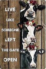 Farm Vintage Métal Signs-Live Like Someone Left