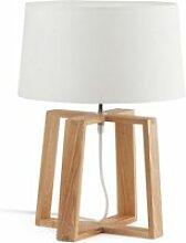 Faro - lampe scandinave bliss blanche en tissu et