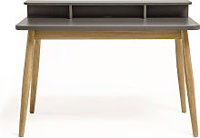 Farsta - Bureau design scandinave chêne et laque