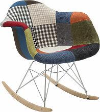 Fashion Commerce - Fauteuil modèle Daw patchwork