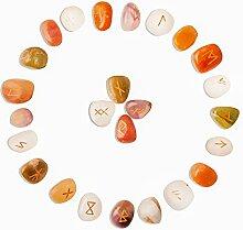 FASHIONZAADI Mix Chakra Gemstone Rune Set (25
