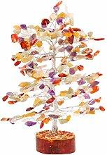 FASHIONZAADI Mix Chakra Gemstone Tree Bonsai Money