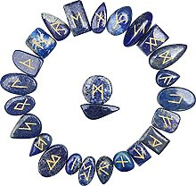 FASHIONZAADI Natural Lapis Lazuli Runes Stones Set