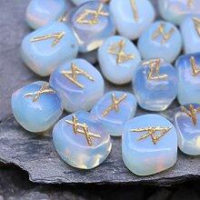 FASHIONZAADI Opalite Gemstone Rune with Engraved