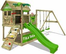 FATMOOSE Aire de jeux Portique bois TikaTaka avec