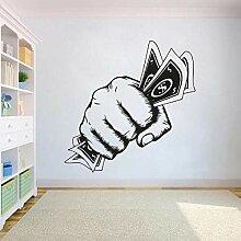 Faucet oersing Stickers Argent Premier Vinyle Mur