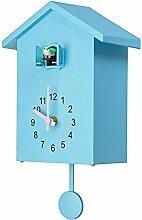 Fauge Moderne Oiseau Coucou Quartz Horloge Murale