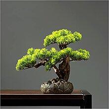 Fausse Plante 11 pouces Faux Bonsai Pine Tree, Pot