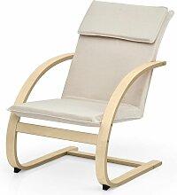 Fauteuil à bascule chaise berçant avec oreiller