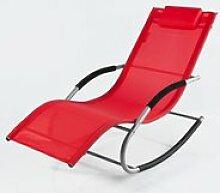 Fauteuil à bascule chaise longue transat de