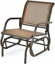 Fauteuil à bascule de jardin chaise à bascule