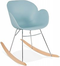 Fauteuil à Bascule Design kokkola 99cm Bleu -