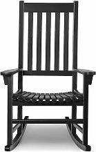 Fauteuil à bascule en bois d'acacia chaise