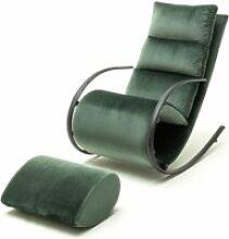 Fauteuil à bascule / fauteuil relax avec tabouret