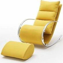 Fauteuil à bascule -fauteuil relax avec tabouret
