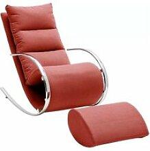 Fauteuil à bascule - fauteuil relax avec tabouret