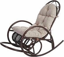Fauteuil à bascule HHG-648, fauteuil pivotant,