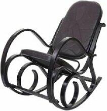 Fauteuil à bascule m41, fauteuil tv, bois massif