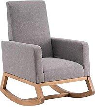 Fauteuil à bascule rétro chaise longue avec