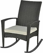 Fauteuil à bascule rocking chair avec coussin