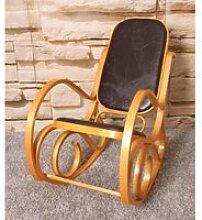 Fauteuil à bascule rocking chair en bois clair