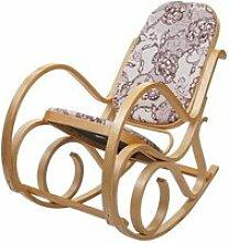 Fauteuil à bascule rocking chair en bois clair et